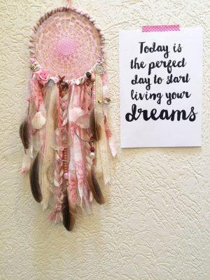 roze dromenvanger baby