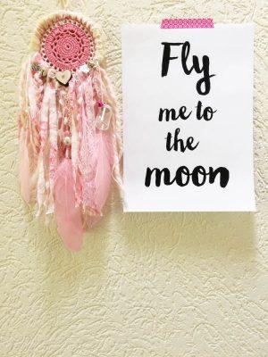 kleine roze dromenvanger